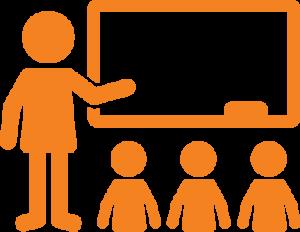 Teacher instructing symbol