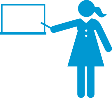 Woman instructing symbol